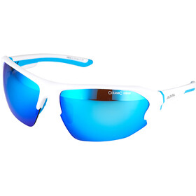 Alpina Lyron HR Glasses white matt-cyan